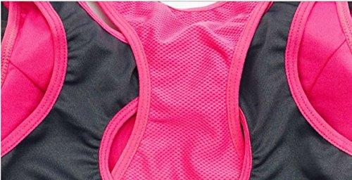 WKAIJCC Donna Giubbotto Sport Reggiseno Biancheria Intima Due Pezzi Finti Cerniera Shock Yoga Corsa Fitness Traspirante Veloce E