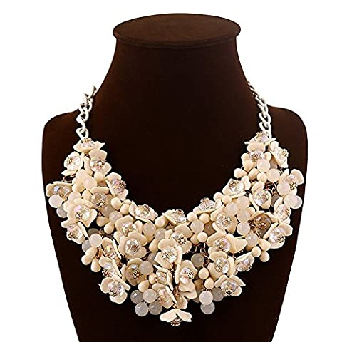 Eshion Jewelry Fashion Choker Bib Necklace Multicolor Flower Crystal Collier Femme Brand Women Jewelry Statement Necklaces Collar