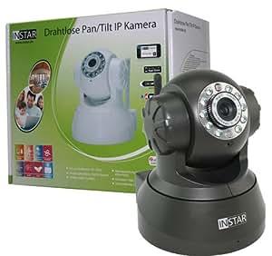INSTAR IN-3010 WLAN Netzwerkkamera für Innenbereich (10 LED Infrarot Nachtsicht, Mikrofon und Lautsprecher integriert) schwarz