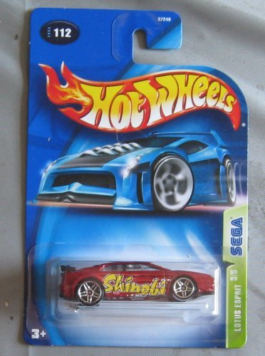 hot-wheels-2003-lotus-espirit-sega-series-3-5-maroon-112-by-hot-wheels
