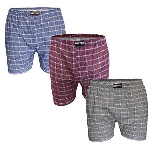 SGS 3er Pack Boxershorts Männer Baumwolle Unterhose Herren Gr. 12 / 6XL