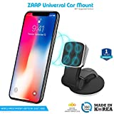 #10: ZAAP®(USA) MAGNETIC TOUCH TWO (3rd Generation) Premium Car Mount Interior Fittings /Desk Mount/Car mobile holder [Award Winning--Made in KOREA] Universal compatible for Smartphones with 360 degree rotation & fully adjustable view. Perfect for Car & desk Mounting. Mobile holder (Black, Car accessories)