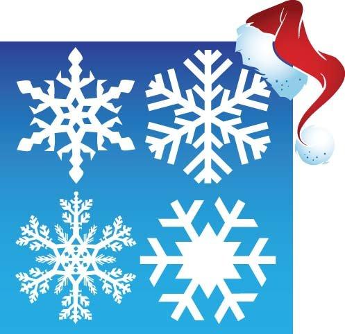 36 Blanc fenêtre de flocon de neige autocollants