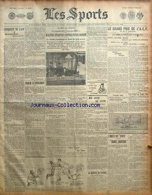 SPORTS (LES) [No 1192] du 06/03/1908 - LE MEETING DE FLORIDE - BOXE / STANTON CONTRE BROWN - LE GRAND PRIX DE L'ACF