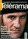 Télérama - n°2230 - 07/10/1992 - Faut-il brûler Christophe Colomb ? / Gérard Depardieu...