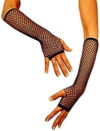 jowiha® Damen Netz Handstulpen Handschuhe 1/2 Arm