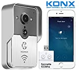 Portier Vidéo Connecté KONX KW01 Gen2, 720p Wi-Fi, Full Duplex, détecteur de mouvement + Sonnette 433Mhz …