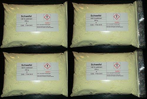 1000 g Schwefel, sublimiert, säurearm, reinst >99,9% für Elementarsammlung -