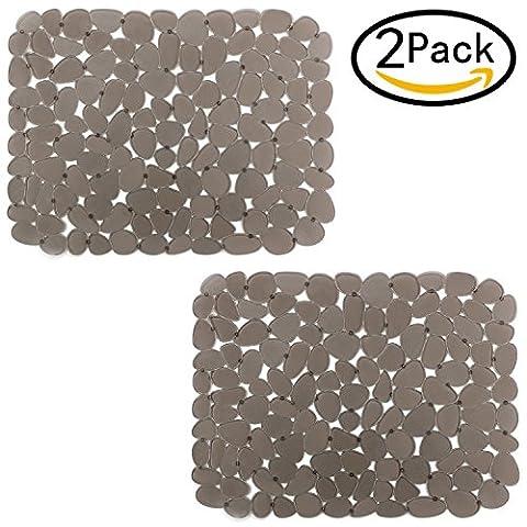 bligli PVC Umweltfreundlich Küche verstellbar Spüle Matte Pad Spüle Displayschutzfolie smoke 2 pack