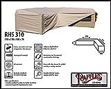 RHS310 Loungemöbel Abdeckhaube für L-Form, passt am besten am Set von max. 305 x 305 cm. Abdeckung für Lounge Eckset, Schutzhülle in L-Form für Lounge Sets, Schutzplane, Regenschutz Ecklounge