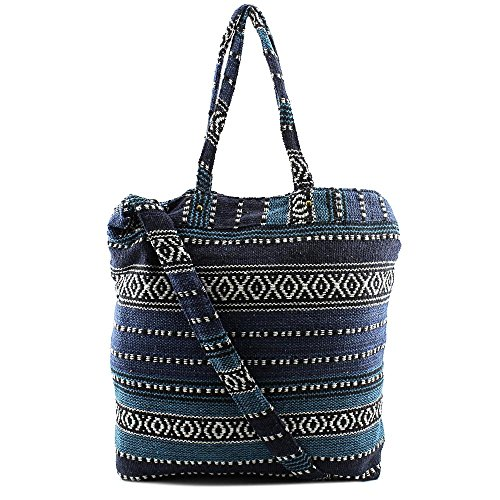 twig-arrow-lulu-tapestry-travel-tote-damen-blau