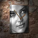 SEASONS ORNELLA MUTI - Canvas Clock (A5 - Signed by the Artist) #js004