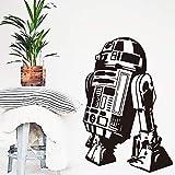 Qtthstickers Muraux Art Design Star Wars Robot Sticker Mural Citation R2 D2 Sticker Vinyle Décor À La Maison Enfants Geek Gamer Amovible Mural Chambre Papier Peint