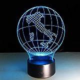 3d nachtlicht Italien Earth Globe Karte Licht 3D Visuelle Led-lampe USB Schlafzimmer Kleine Schreibtischlampe 7 Farben Ändern Led Nachtlichter Decor