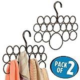 mDesign Schalhalter – 2er-Pack Schalbügel und Aufbewahrung für Tücher