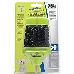 FURminator Slicker Brush for Dogs FURflex, Dual Head for All Hair Small Dogs 10