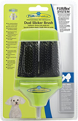 FURminator Slicker Brush for Dogs FURflex, Dual Head for All Hair Small Dogs 1