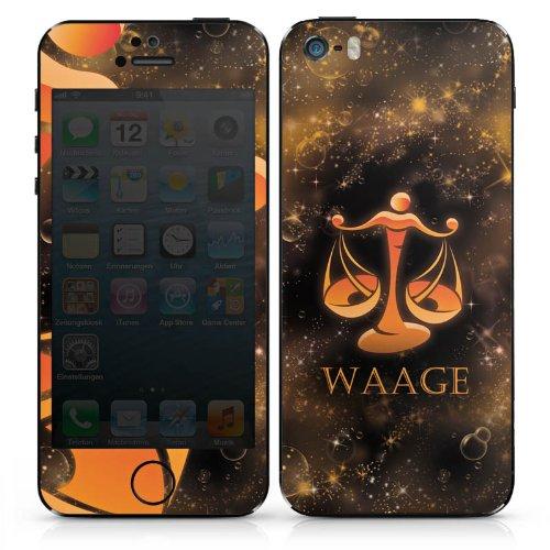 Apple iPhone 5s Case Skin Sticker aus Vinyl-Folie Aufkleber Waage Sternzeichen Astrologie DesignSkins® glänzend