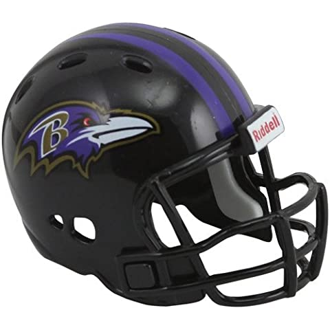 Riddell Revo Pocket Pro - Réplica de casco de los Baltimore Ravens