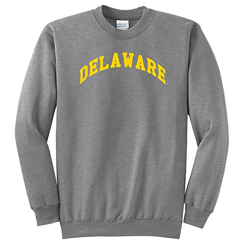Promoversity NCAA Delaware Fightin 'blau Hühner Arch Classic crewneck Sweatshirt, Athletic Heather, XXL (Delaware Klassischen Sweatshirt)