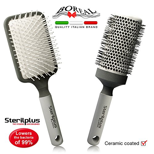 Set spazzole da capelli antibatteriche con additivo