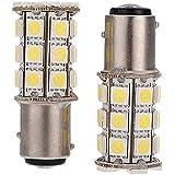 LED feux de freinage - SODIAL(R)2 x 1157-T25 BAY15D P21/ 5W 27 SMD5050 12V LED feux de freinage Blanc Lumiere