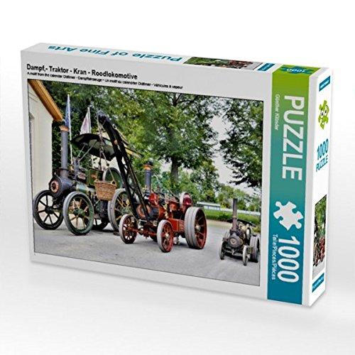 CALVENDO Puzzle Dampf,- Traktor - Kran - Roodlokomotive 1000 Teile Lege-Größe 64 x 48 cm Foto-Puzzle Bild von Günther Klünder (CALVENDO Orte) (Dampfmaschine Puzzle)
