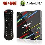 [Android 8.1♥4GB + 64GB] H96 MAX+ 4G+64G RK3328 Quad-Core 64bit Ultra HD Smart TV BOX,Support 2.4G/5G Dual Wifi /3D/4k/USB3.0 /Old TV