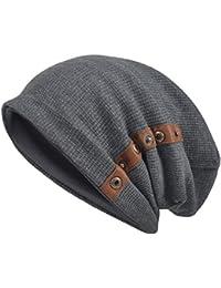 dd9d2a7b285 VECRY Men s Cotton Beanie Slouch Skull Cap Long Baggy Hip-Hop Winter Summer  Hat