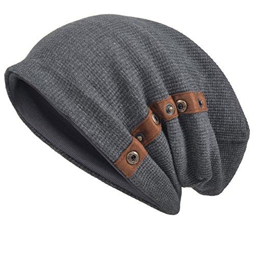 VECRY Herren Baumwolle Mütze Strickmützen Slouch Beanie Schädel Cap Winter Sommer Hüte (020-Grau) (Frauen-schnee-stiefel Beste)