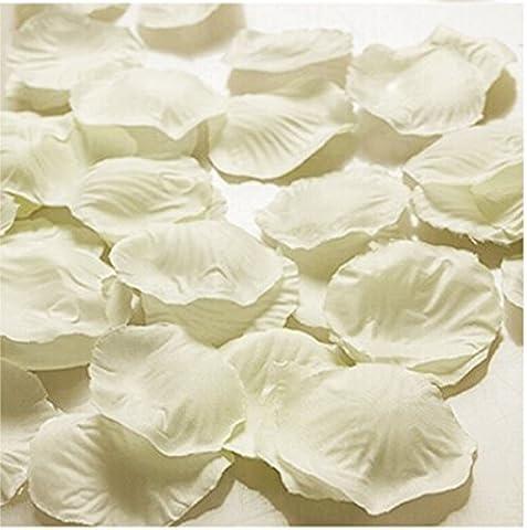 HJFF-1000~5000 pcs Verschiedene Hochzeit Dekorationen Farben silk Blume Rose Petals, beige, 1000 (Silk Petal Kleid)
