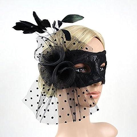 Máscara Veneciana Partido Pluma de Mascarada Bola Carnaval Disfraces Artículos Fiesta