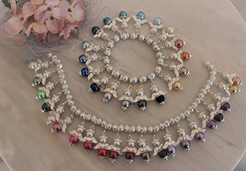 Galerie-of-art4you DIY- Bastelset 50 + 1 Perlenengel Schutzengel Glücksbringer als Gastgeschenk für Hochzeit Taufe Kommunion Geburtstag