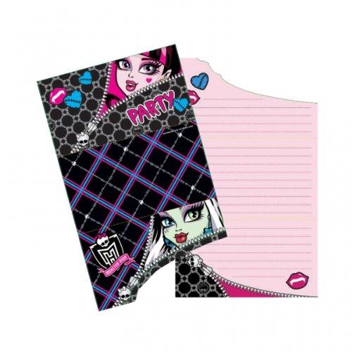 amscan Riethmüller Monster High Einladungskarten