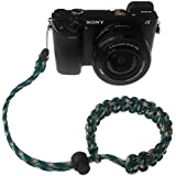 FoRapid Braided 550 Paracord Adjustable Camera Wrist Strap /Bracelet Quick Release Connector Fits All Camera Lugs For Mirrorless Compact System DSLR Cameras