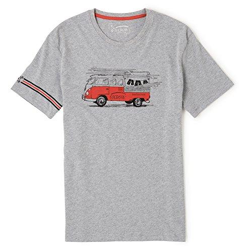 OXBOW Herren J2 Tereld T-Shirt, Weiß grau meliert