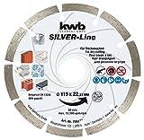 Kraftixx Diamant-Trennscheibe 796170 (Durchmesser 115 mm für Granit, Beton, Klinker und Mauerwerk)