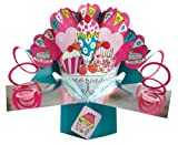 Second Nature POP062 Pop Up Grußkarte zum Geburtstag pink
