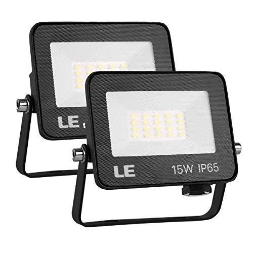 LE Foco LED de 15W, 1500 lúmenes, IP65 resistente al agua, Foco...