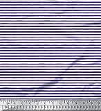Soimoi Blau Viskose Chiffon Stoff horizontal Streifen Stoff