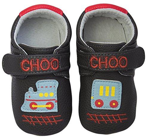 Rose & Chocolat RCM Choo Choo Baby Jungen Lauflernschuhe Sneaker Grau (Grey)