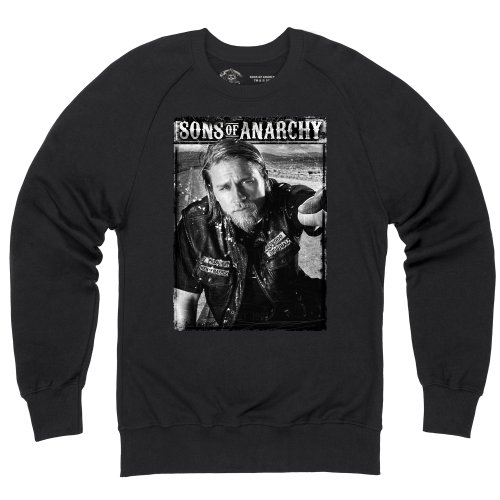 Official Sons of Anarchy - Jax Teller Portrait Sweatshirt mit Rundhals, Herren, Schwarz, - Anarchy Sweatshirts Of Jax Sons