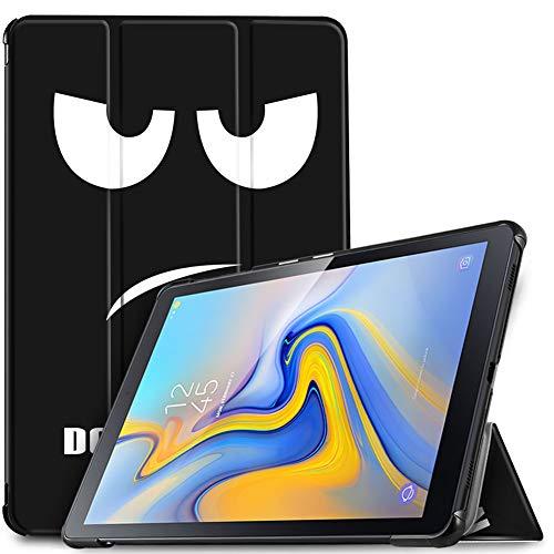 IVSO Hülle für Samsung Galaxy Tab A 10.5 SM-T590/T595, Slim Schutzhülle mit Auto Aufwachen/Schlaf Funktion Ideal Geeignet für Samsung Galaxy Tab A SM-T590/SM-T595 10.5 Zoll 2018, Soot Eye