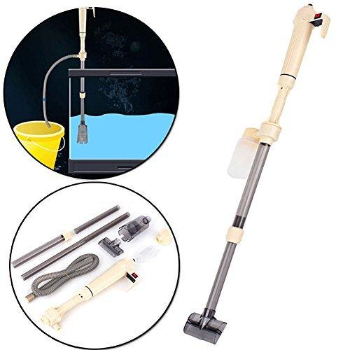Zerone Aquarium Reiniger, elektrische Kies Reiniger Filter Waschmaschine Siphon Vakuum Wasser Wasserpumpe 520L/h für höhenverstellbar 4095cm