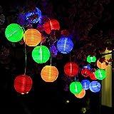 DeepDream Solar Lichterkette bunt Lampion 30 LEDs 6.5M LED Lichterketten außen wasserdichte Gartenlichter geeignet für Partys, Hochzeiten, Halloween, Weihnachten und andere Innen und Außenbeleuchtung Dekoration[Energieklasse A+++]