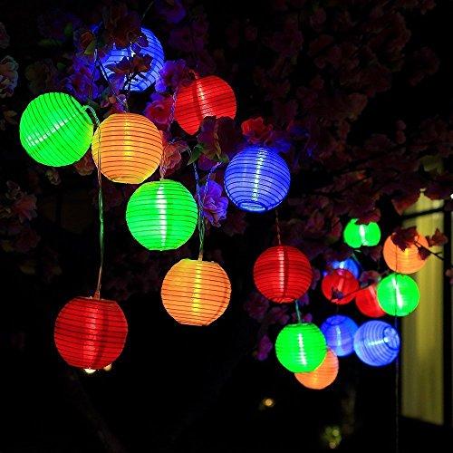 terkette außen bunt Lampion 30 LEDs 6.5M LED Lichterketten außen wasserdichte Gartenbeleuchtung für Partys, Hochzeiten, Halloween, Weihnachten und andere Innen und Außenbeleuchtung Dekoration[Energieklasse A+++] (Halloween Dekoration Außen)