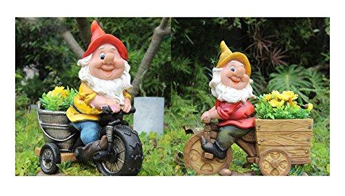 Design Zwerg NF 15156-1 Fahrrad XL 37 cm Hoch Deko Garten Gartenzwerg Figuren DekorationDesign