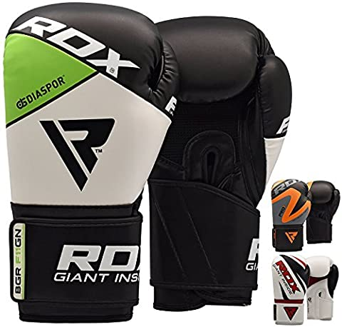 RDX Maya Hide Cuir Boxe Entrainement Gants Kickboxing Sparring Sac De Frappe Muay Thai - Vert - 12oz
