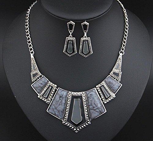 xuhuzi-collana-orecchini-semplice-collana-di-fascia-alta-moda-retro-set-gray