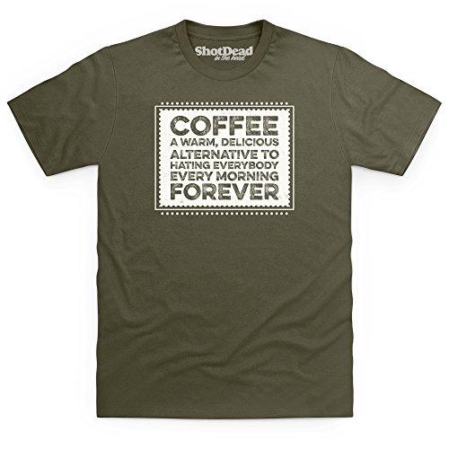 Coffee Forever T-Shirt, Herren Olivgrn